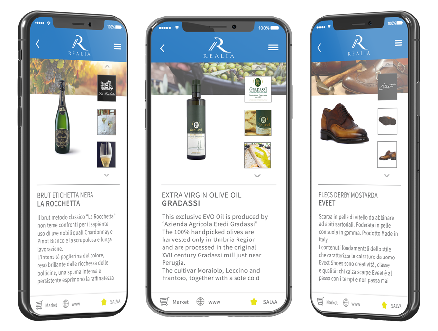 Realia Real Italian Restaurants Made in Italy App